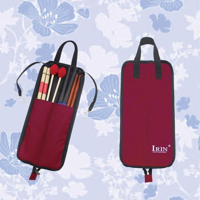 Irin Drum Stick Bag  - Durable Waterproof Storage Pouch Portable Drummer Accessories 4