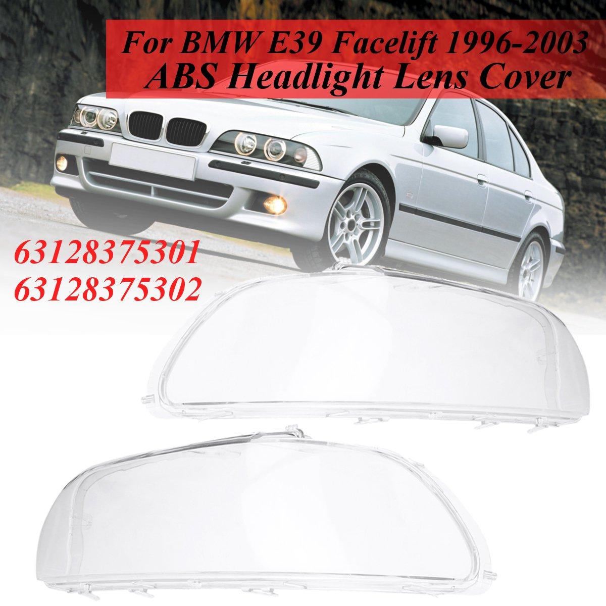 63128375301 63128375302 Paire Clair Lentille de Phare Pour BMW E39 Lifting 1996 1997 1998 1999 2000 2001 2002 2003