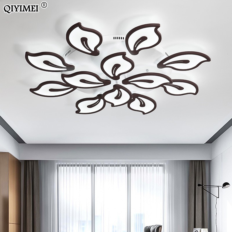 Dimming lamp Modern LED Chandeliers For Living Room bedroom Dining room White/Black flower Chandelier surfaced mount dome deroDimming lamp Modern LED Chandeliers For Living Room bedroom Dining room White/Black flower Chandelier surfaced mount dome dero