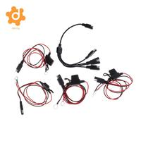 Baoblaze 4 Pieces 2Pin Ring Terminal Harness with Fused with 1 to 4 SAE Power Cable