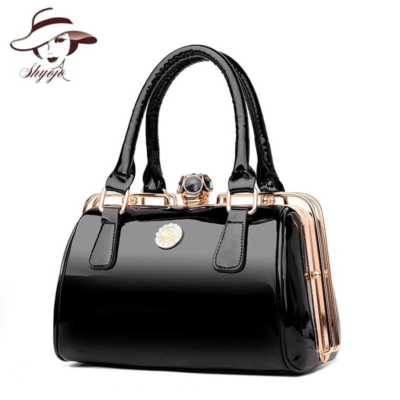 2019 Women Beautiful Ma'am Handbags New Fashion Single Shoulder Bag All-match Cable Satchel Diamonds Patent Leather Totes Clutch