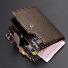 Mens Multi-Functional Short Wallet Korean Version Golden Sands Zipper Card Holder Hand Men