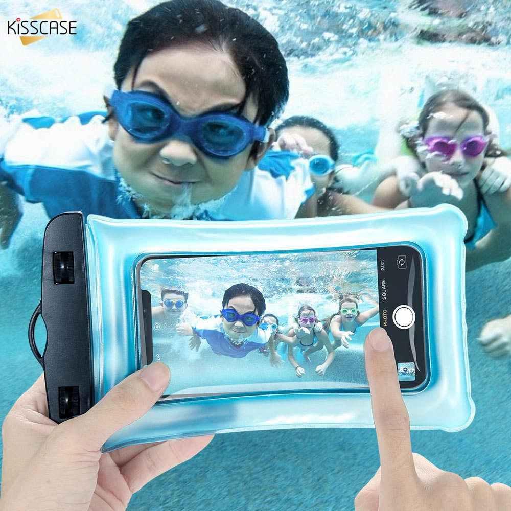9 BEIJOS Waterproof Case Telefone Para Xiao mi mi mi Vermelho Nota 7 Samsung S10 PVC Transparente Selado Celular Debaixo D' Água smart Phone Bolsa Seca