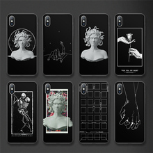 Moskado For iPhone 7 8 Plus XS Max X XR Simple Couples Cases Coque For iPhone 6 6S Plus 5 5S SE Abstract Art Portrait Phone Case цена и фото