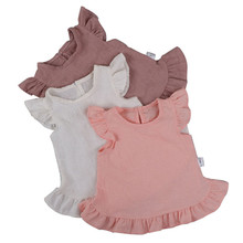 Kids Baby Girl Blouses Ruffle Sleeve Clothing