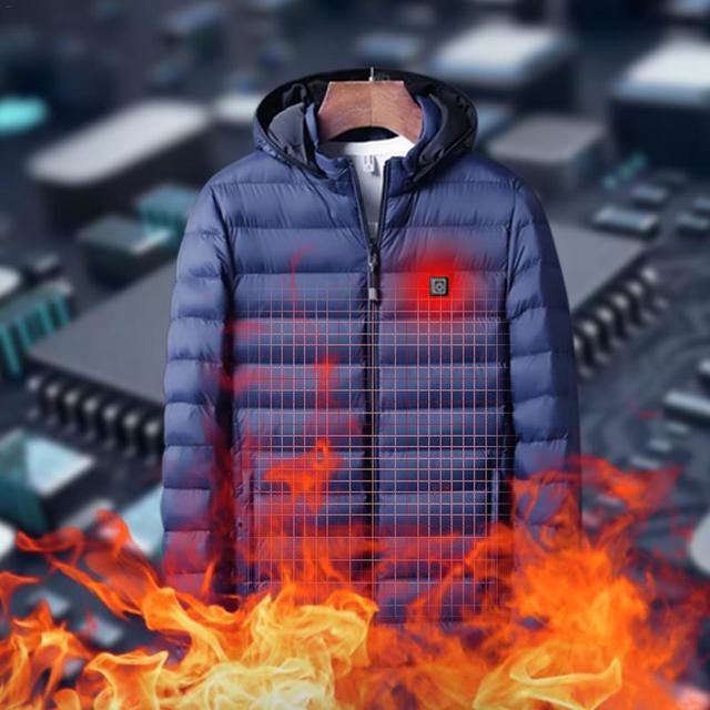 Winter Warm Heating Jackets Men Women Smart Thermostat Hooded Heated Clothing Men's Waterproof Skiing Hiking Fleece Jackets 1