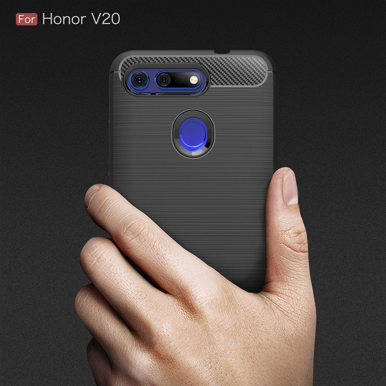 Carbon Fiber Shockproof Phone Case For Huawei P30 P20 Mate20 lite Pro Nova 4 3 3i P Smart Plus Honor V20 8A 8X 10 Play Y7 2019