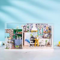 Home Decoration Supplies Wooden Miniature Dollhouse Kit DIY Art House Crafts Perfect Cute Birthday Gifts Children Christmas Gift