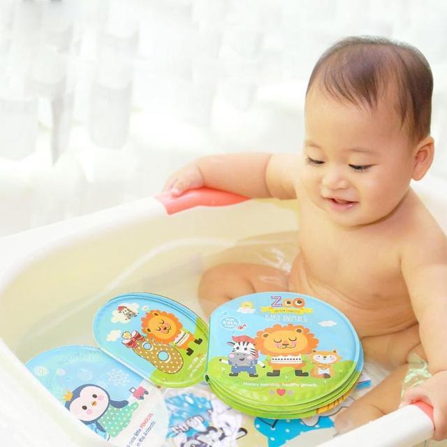 Paño de Aprendizaje Temprano chico niños a prueba de agua libros de tela con dispositivo BB bebé juguetes de baño Erly juguete educativo zoológico marino número de tela libro