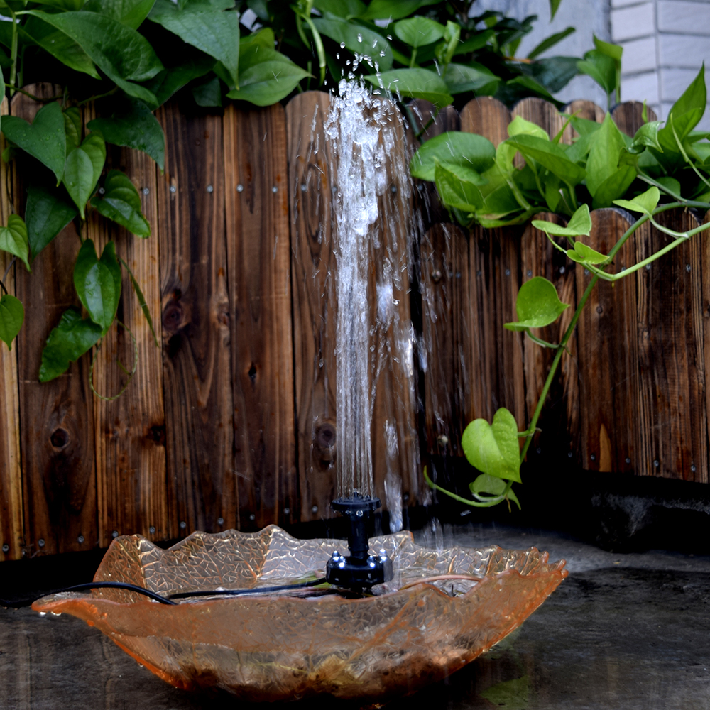 Lift 150cm Fountain 10V 5W Solar Powered Brushless Water Pump Built in Storage Battery Submersible Pump