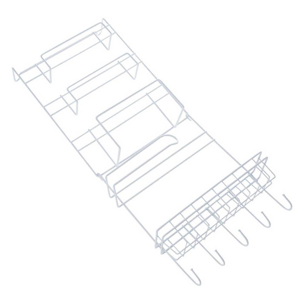 الثلاجة الجانب التخزين رف متعددة الوظائف المطبخ تخزين الرف تحت مجلس الوزراء تخزين الرف سلة رف من السلك المنظم (الأبيض)