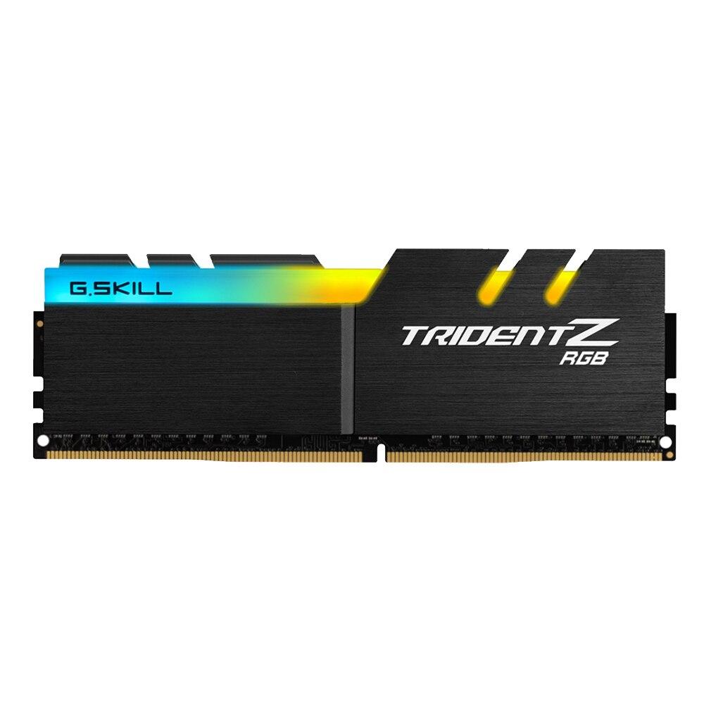 G. COMPÉTENCE TridentZ RGB Série 8 gb DDR4 3000 mhz F4-3000C16S-8GTZR BÉLIERS Pour PC Ordinateur De Bureau DDR4 Mémoire 16-18 -18-38