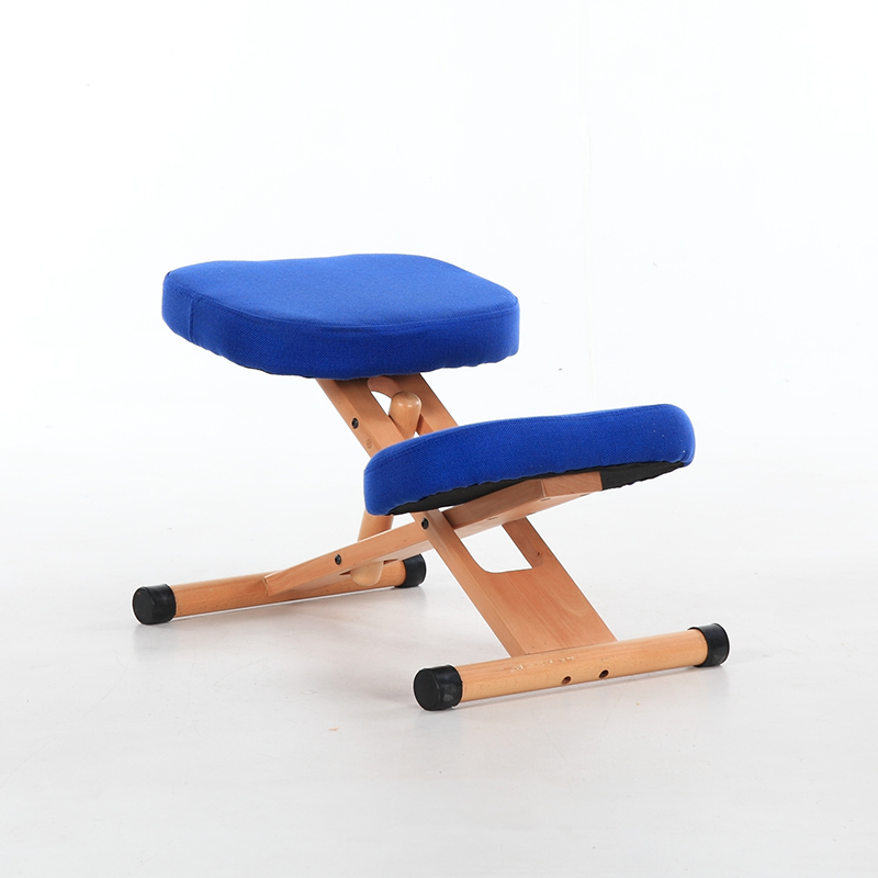 Купить с кэшбэком Ergonomic Kneeling Chair Stool Wood Office Posture Support Furniture Ergonomic Wooden Chair Balancing Body Back Pain Knee Stool