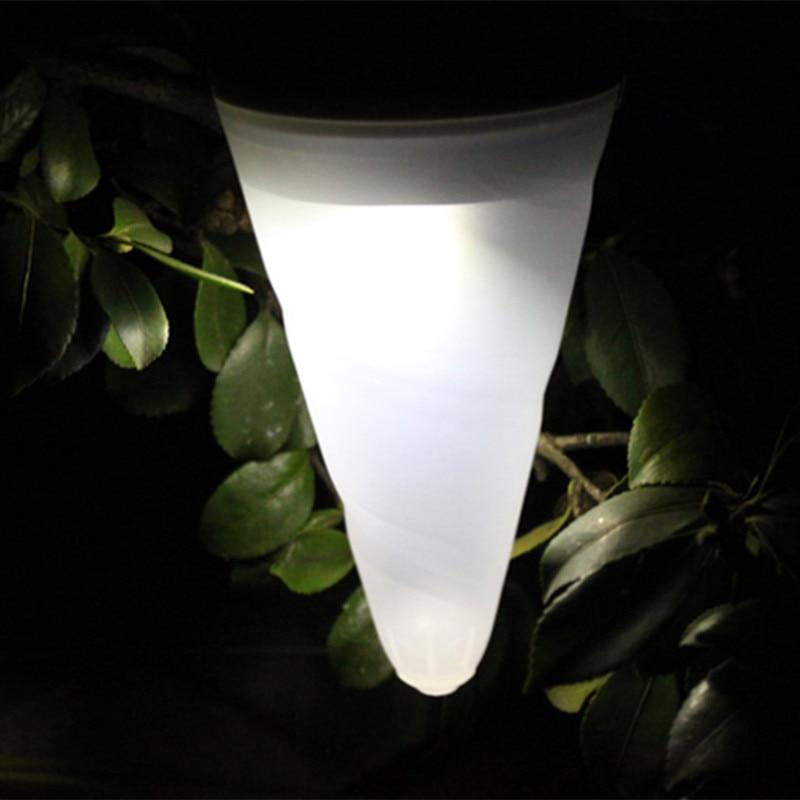 1 Pcs Eis Led Lampe Outdoor Powerd Hängen Lichter Kegel Solar Garten Pfad Camping Bunte