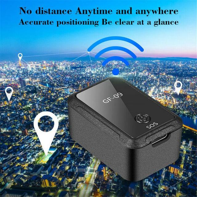 GF-09 Mini GPS Tracking Tracker Voice Recorder Portable Car Tracker Real-Time Locator APP Control Anti-Theft Device Magnetic