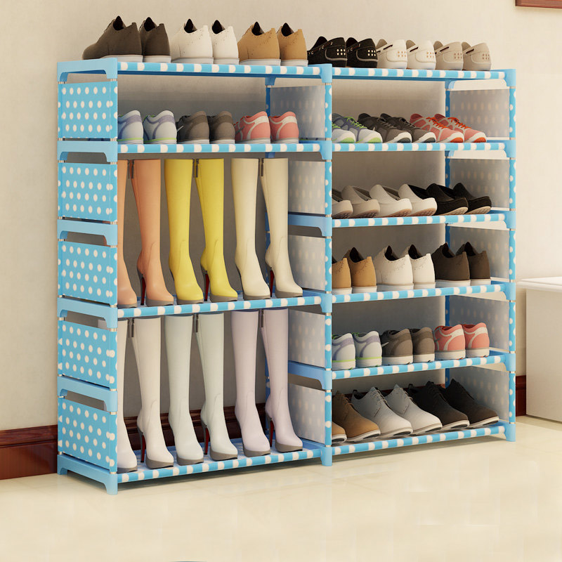 Multi-layer Simple Non-woven fabric Craft Shoes Boots Storage Rack Assembly Stand for Home Shoes Organizer Saving Space JC001Multi-layer Simple Non-woven fabric Craft Shoes Boots Storage Rack Assembly Stand for Home Shoes Organizer Saving Space JC001