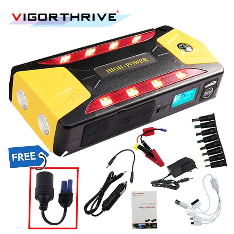 UK Plug Auto batterie externe 12 V Booster Jumper Batterie Mini Multifonction D'urgence Démarreur Voiture De Saut Décharge pour voiture à essence