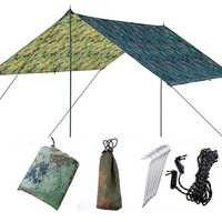 Imperméable à l'eau soleil abri auvent tente bâche 3x3m en plein air Camping hamac pluie mouche Anti UV plage tente ombre Camping parasol auvent