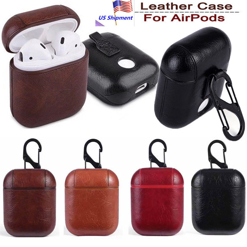Real Leather Airpods Earphone Protective Case Storage
