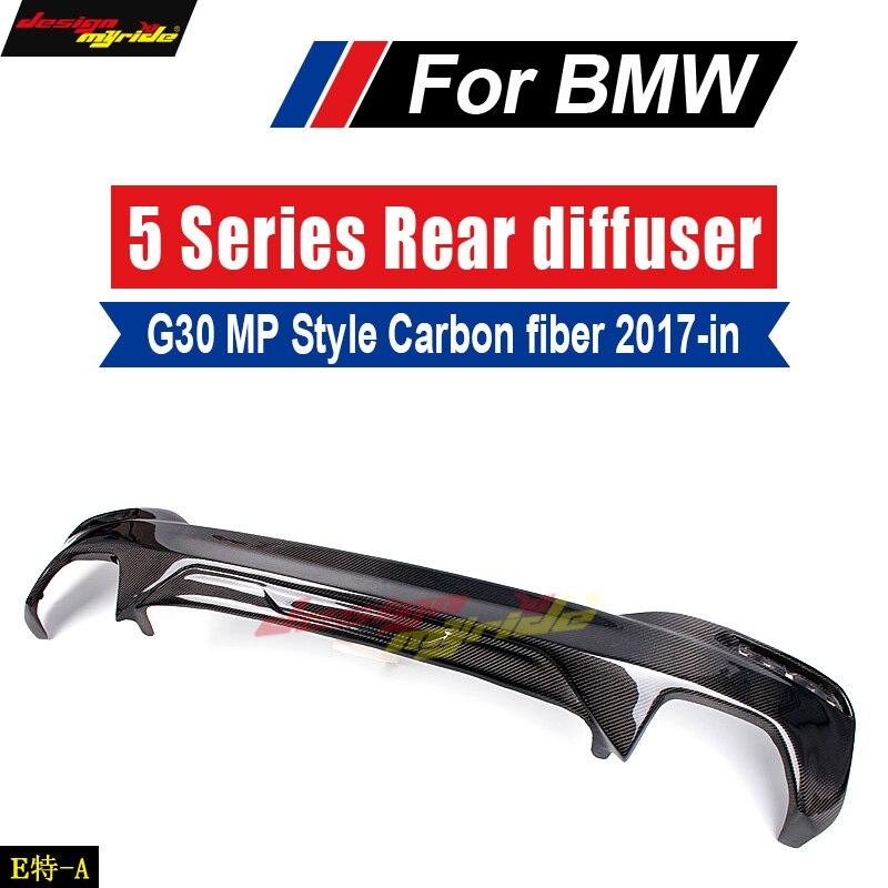 For BMW G30 Diffuser Lip MP Style Carbon fiber 520i 530i 540i 550i 550i xDriver Diffuser Lip G30 Rear Bumper Diffuser Lip 2017+