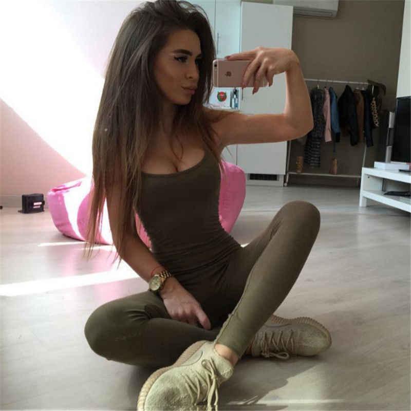 Для женщин Дамы Тонкий Спорт Йога тренажерный зал ремешок комбинезона без спинки одна деталь бег длинные брюки фитнес тренировки комбинезон