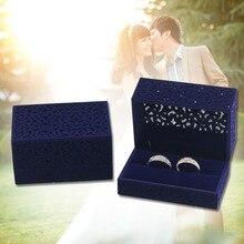 Полые ювелирные изделия свадебный подарок обручение Организатор держатель для хранения дисплей кольцо коробка