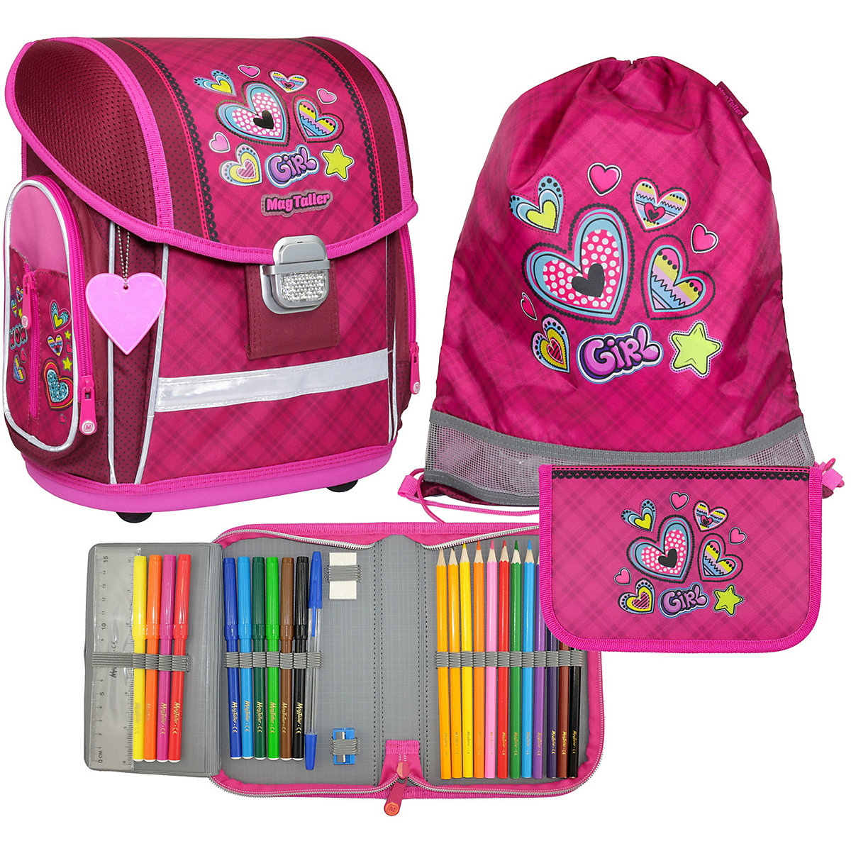 School Bags MAGTALLER 11154870 schoolbag backpack knapsacks orthopedic bag for boy and girl animals flower sprints стоимость