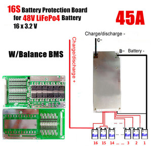 Image 3 - 16S 45A 48V Li Ion Lithium Lifepo4 Battery Power Protection Board Bms Lfp Pcm Pcb Integrated Circuits Board For E Bike Electri