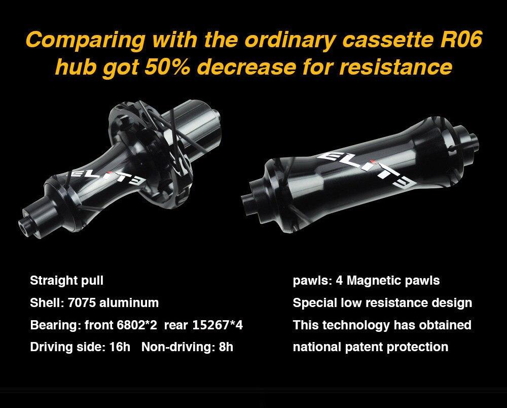 2018 nouveau moyeu de vélo de route faible résistance conception en aluminium 7075 matériau en céramique roulement grande bride seulement 366g moyeu de vélo - 4
