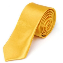 MYTL унисекс галстук Повседневный узкий галстук тонкий-твердый Золотой Желтый