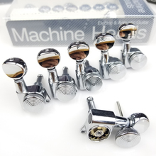 Chrome Guitar Locking Tuners Electric Machine Heads JN-05SP Mini Oval Tuner for ST TL Lock Silver Tuning Pegs