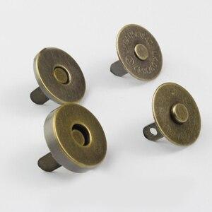 5 مجموعة جودة الكلاسيكية جولة المشبك المغناطيسي ل حقيبة معدن الفضة محفظة الطقات الإغلاق زر بطارية بالضغط حقيبة اكسسوارات 14mm 18mm