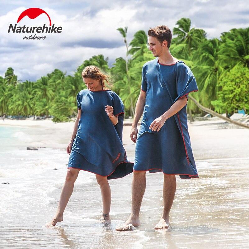 Naturehike – peignoir de bain à séchage rapide, serviette de plage, cape de bain pour adultes, pour hommes et femmes, comme casier
