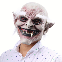 Scary Vampire Mask Costume Adult White Eyebrow Ghost Cosplay Halloween For Suit