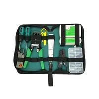 11 pçs/set RJ45 RJ11 RJ12 CAT5 CAT5e Portátil Kit Ferramenta de Reparo de Rede LAN Testador de Cabos Utp E Alicate de Friso Crimper plugue Braçadeira #35