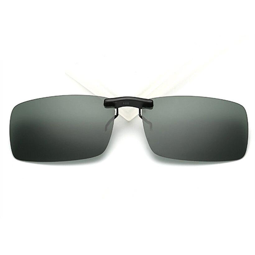 357d8defd7 Rimless Polarized Clips Sunglasses Men on Nose Driving Night Vision Sun  Glasses Fashion Eyewear Flip Myopia