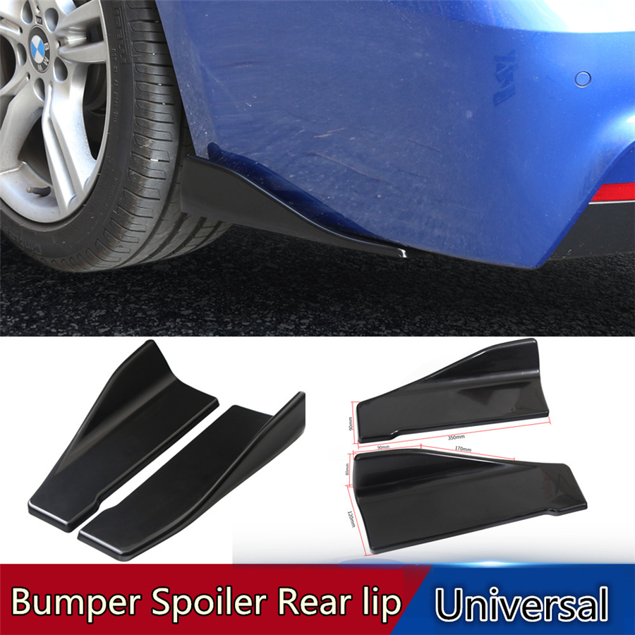 2 x Car Side Skirt Spoiler Rocker Splitters Winglet Wing Canard Diffuser Spoiler