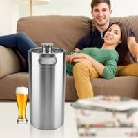 5L/3.6L/2L Mini Stainless Steel Beer Barrel with Spiral Cover Lid Practical Home Hotel Hign Quality Beer Brewing Supplies