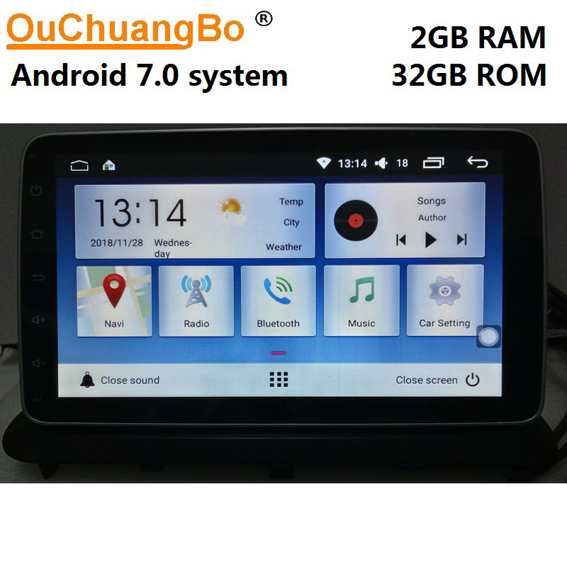 Ouchuangbo android 7.0 car radio audio player recorder for ChangAn Alsvin V7 with gps navigation mirror link 2GB+32GB