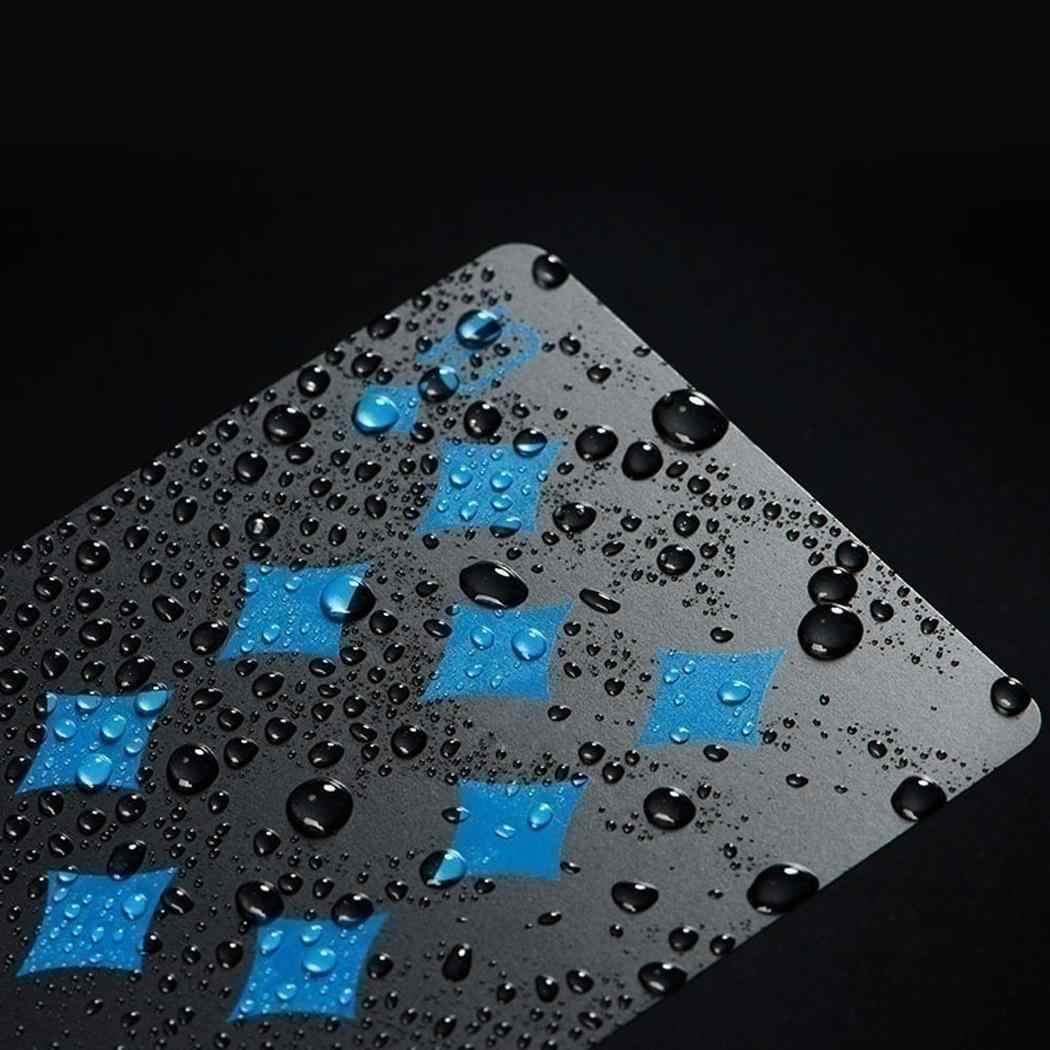 ПВХ Водонепроницаемый Черный покер доска игра карты игральные карты Волшебный реквизит Повседневные Вечерние модные унисекс 54 листа