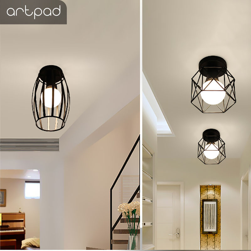 Artpad Northern Europe Iron Diamond Led Ceiling Light Fixtures Hallway Lights Dressing Room Balcony Lamp 5w E27 Bulb Included In From