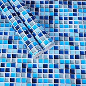 Image 2 - מכירת מקלחת חדר Moasic עצמי דבק טפט Pvc עמיד למים קיר מדבקת אופנה מטבח Oilproof מדבקות אריחי אמבטיה