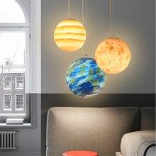Modern Resin Planet LED Pendant Lights Lighting Bedroom Living Room Restaurant Noridc Lamps Kitchen Fixtures Luminaire