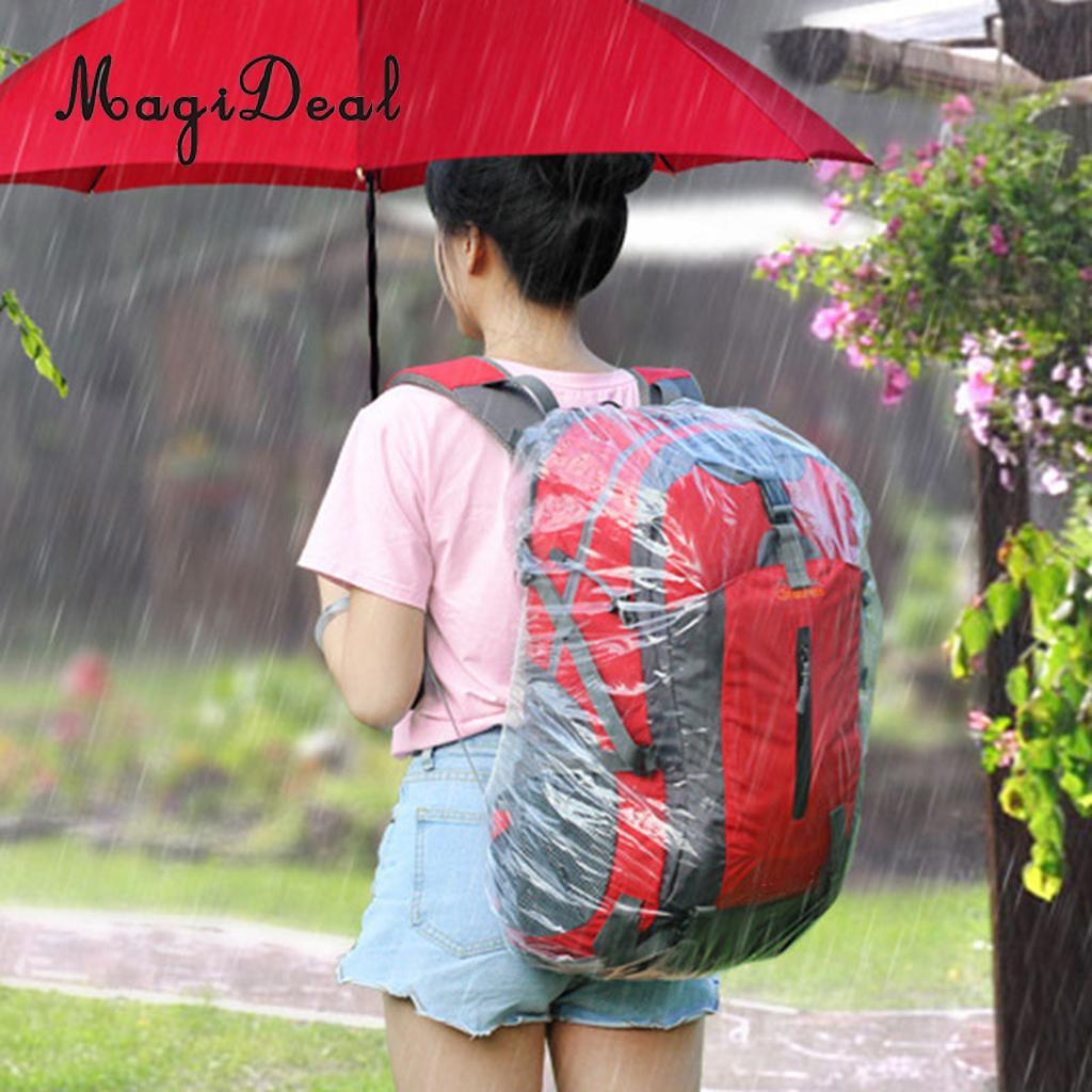 Disposable Waterproof Backpack Cover Rain Dust Proof Outdoor Rucksack 20l-55l