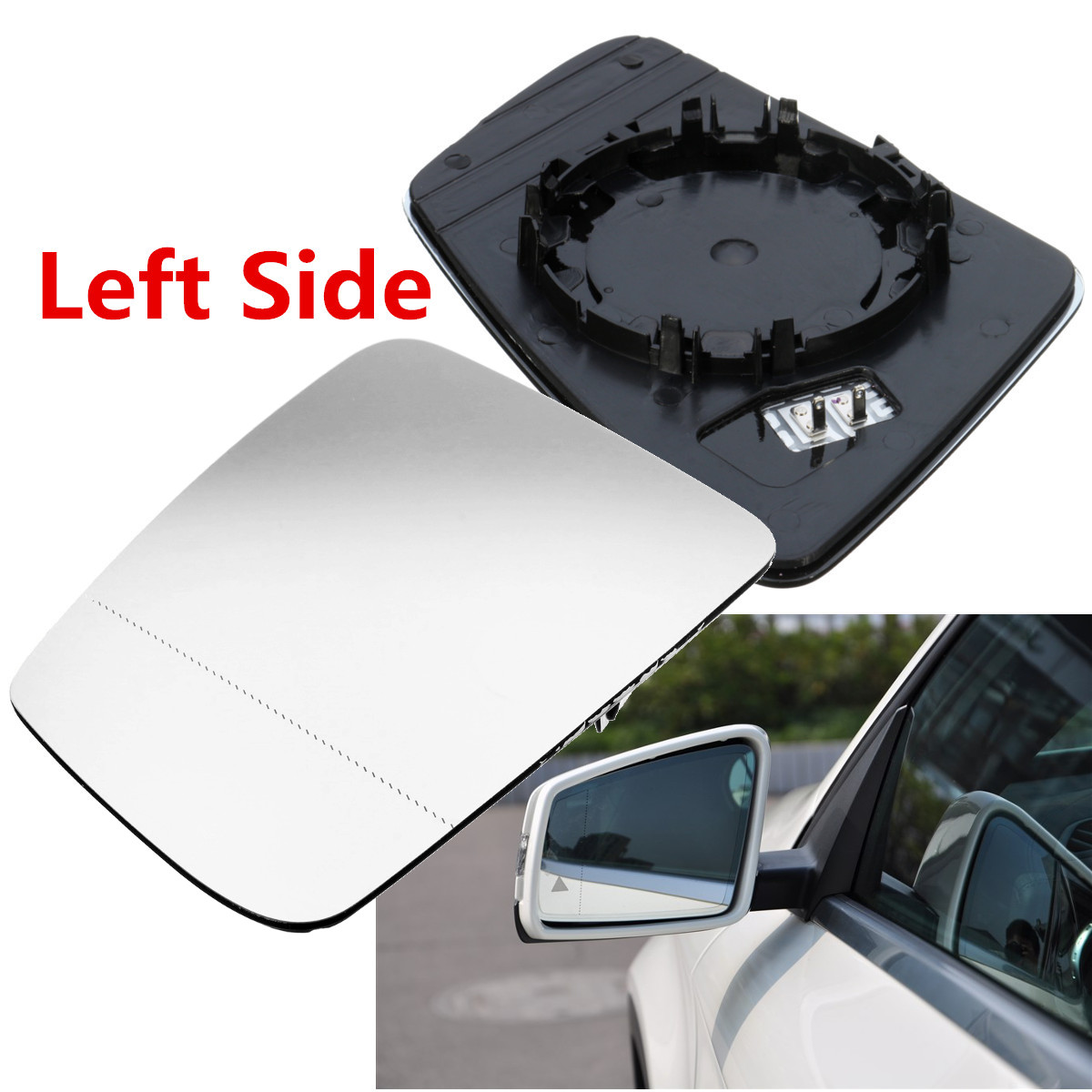 For Volvo v70 2000-2003 Left side Aspheric electric wing mirror glass plate
