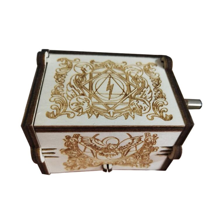 2019 Antique Carved Music Box Game Of Throne Music Box Star Wars Wooden Hand Crank Theme Music Box image