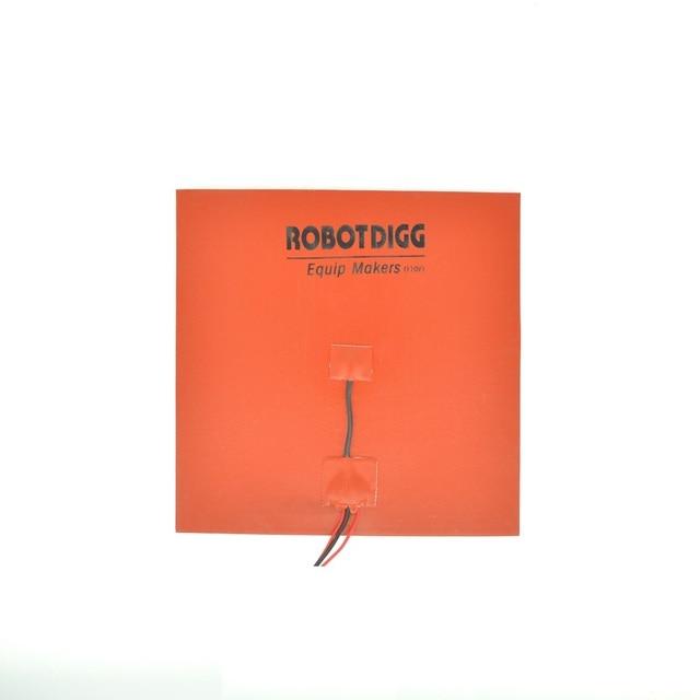 110V 250mm square silicone rubber heater pad