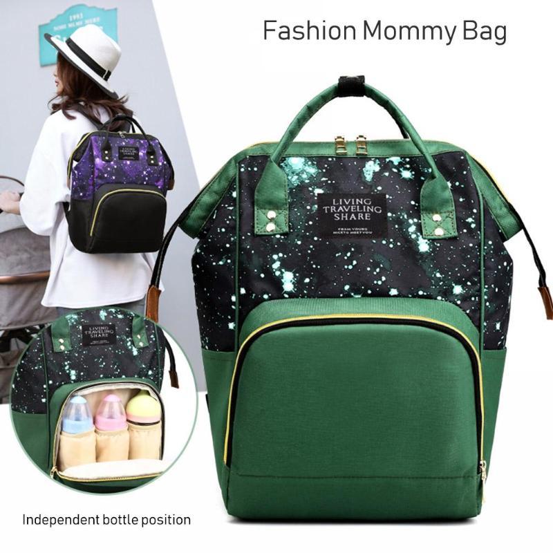Mommy Diaper Bag Large Capacity Baby Nappy Bag Designer Nursing Bag Fashion Travel Backpack Baby Care Bag for Mother Kid Mochila