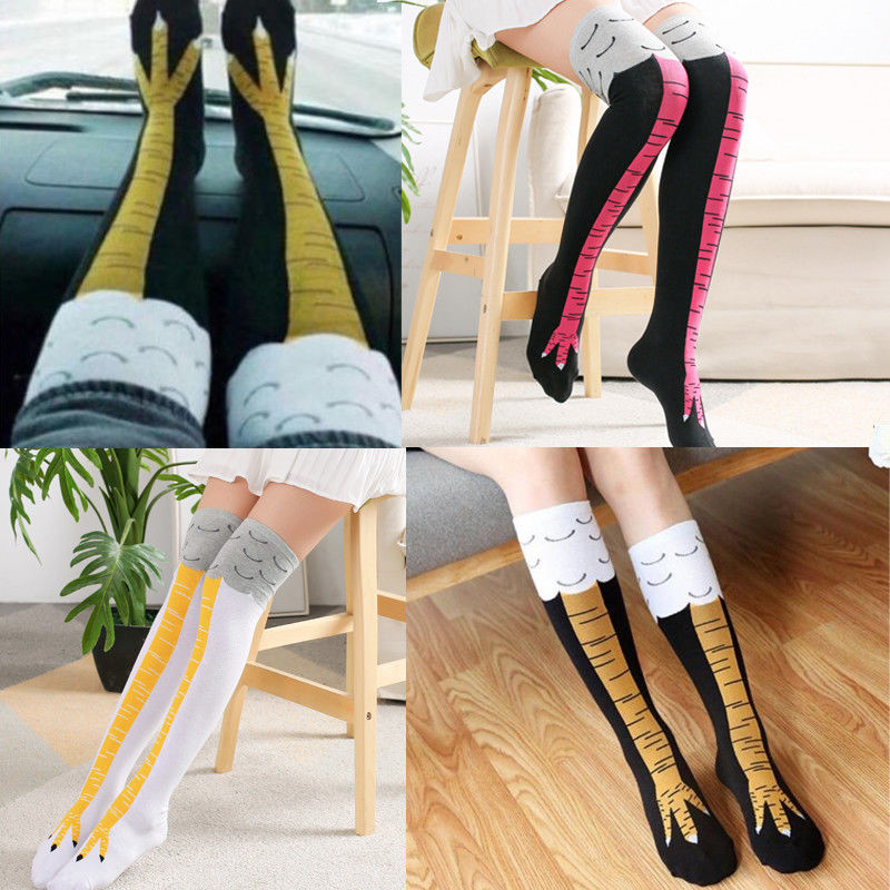2019 New Female Socks Funny 3D Cartoon Image Chicken Feet Socks In Long Socks Hot