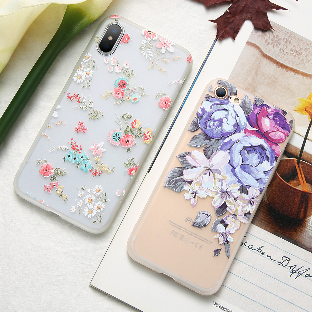 Image 3 - KISSCASE 3D Relief Flower TPU Phone Case for Xiaomi Redmi Note 7 6 5 Pro 4 4X 4A 5A 5 Plus 6A 6 Pro Redmi GO Soft Case Cover-in Fitted Cases from Cellphones & Telecommunications